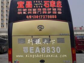 石家庄到宜昌大巴客车随车电话13617275688