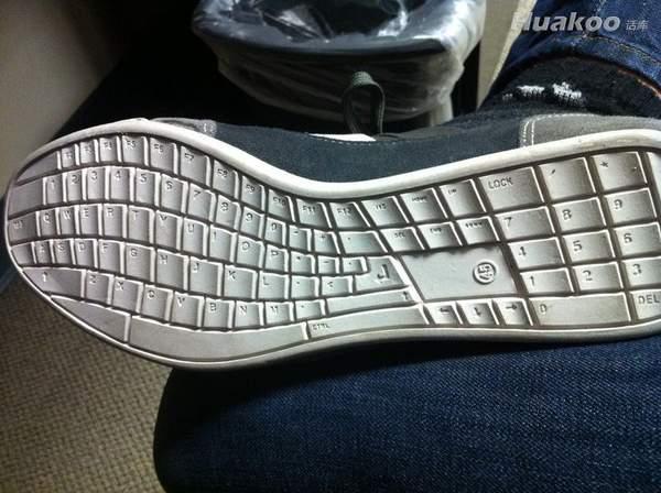 创意键盘鞋底