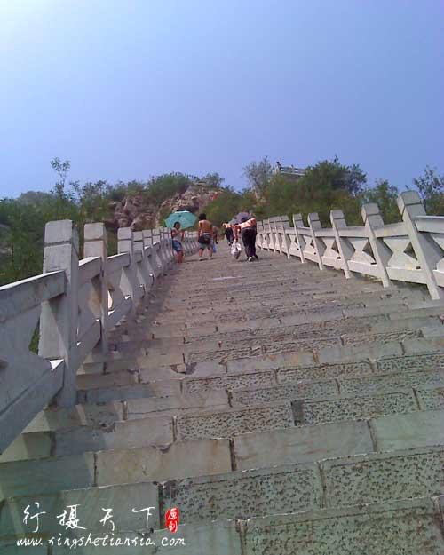 抱犊寨的百阶台阶
