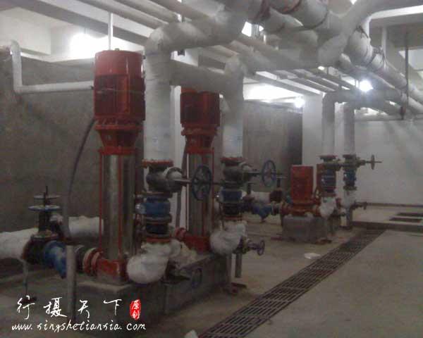 消防水泵泵房现场图