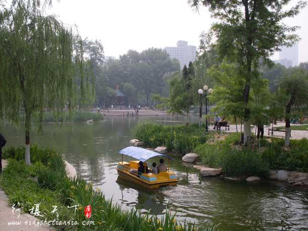 长安公园划船