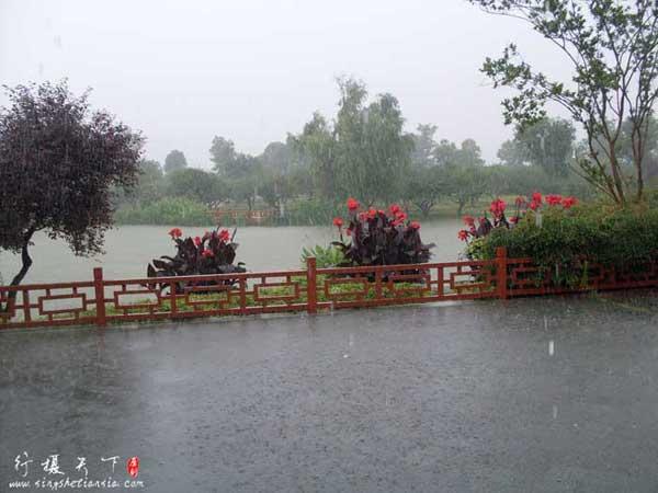 天气变化莫测说下雨就下雨