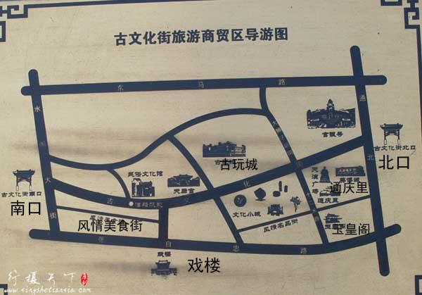 天津古文化街导游图