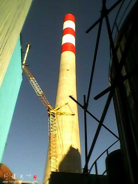 施工中的电厂