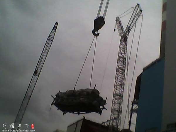 电厂施工,塔吊、履带吊、桅杆吊