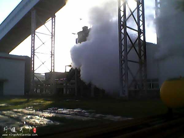 电厂到处都是蒸汽