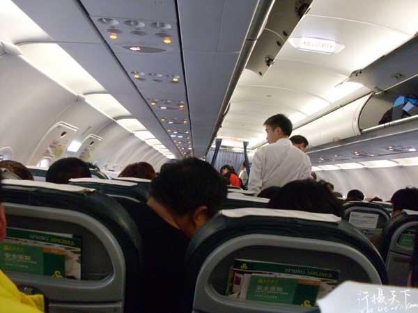 空客A320内部,和大巴有些相似