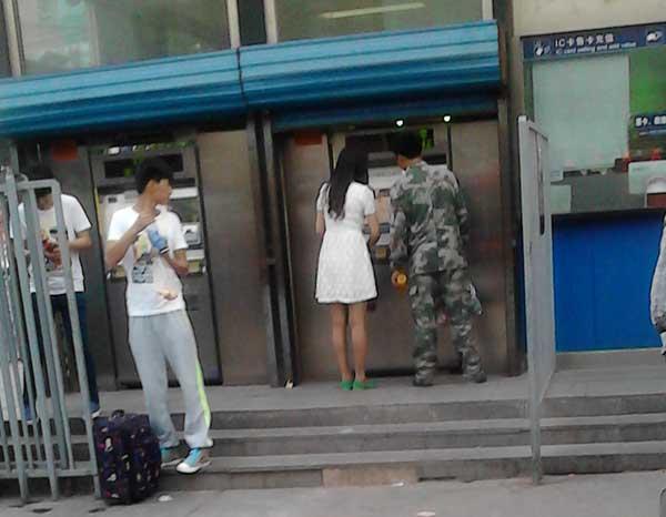 北京的美女和兵哥哥