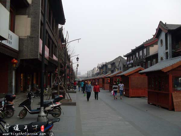 华严寺广场步行街
